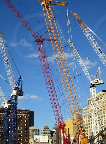 Cranes and construction Hudson Yards New York City photo