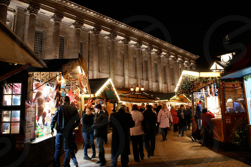 Birmingham Christmas holiday market German town hall Xmas photo