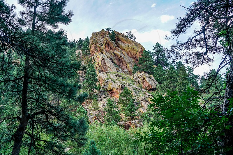 Hiking through the amazing Sunshine Canyon Trails in Boulder Colorado. photo