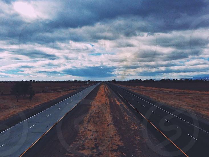 two concrete road photo