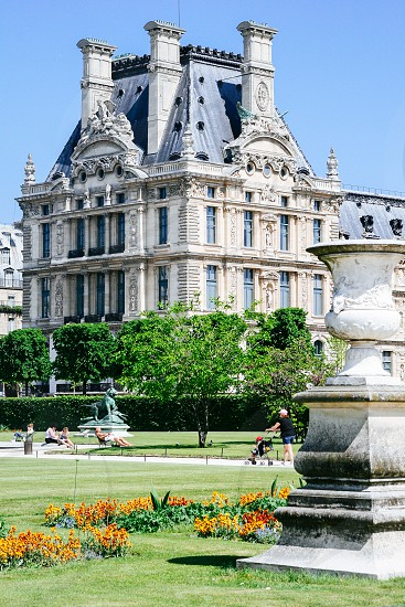 Tuileries Garden in Paris France photo