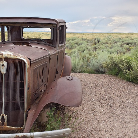 Road trip vacation family cancel rerun flight drive home national park Petrified Forest Route 66 summer trip of a lifetime bucket list photo