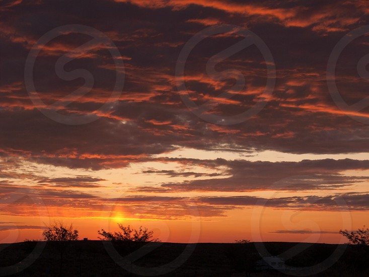 Day break early morning red sky outdoorsunclouds early  photo