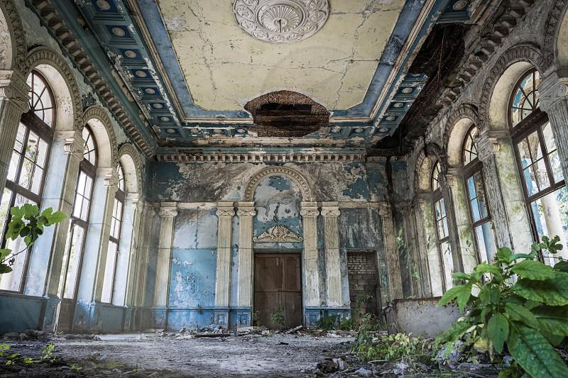 Abandoned railway station in Georgia  photo