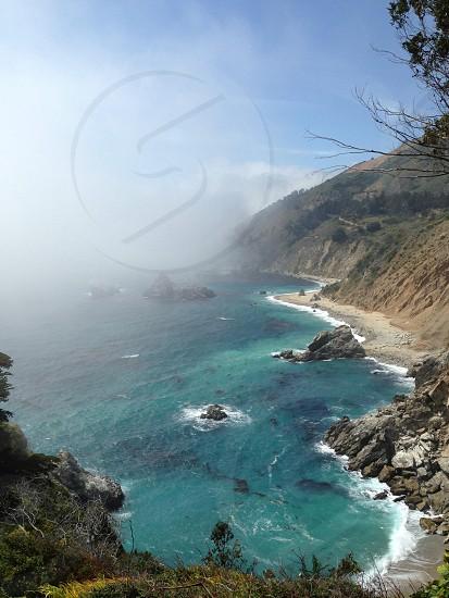 water waves hitting shore photo