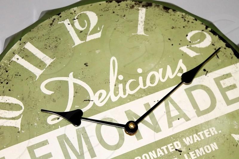 Vintage lemonade clock... photo