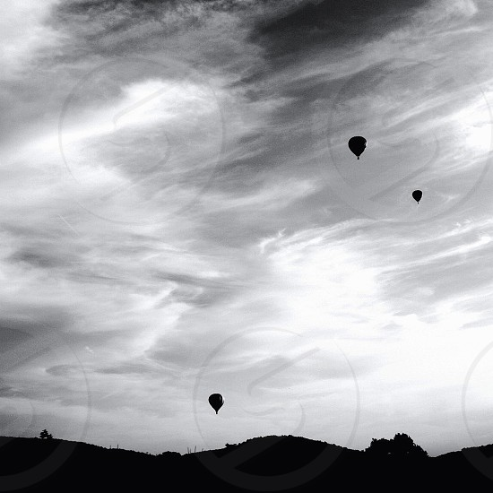 hot air balloon silhouette  photo