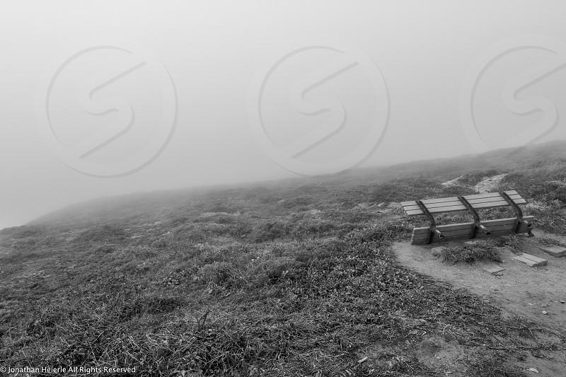 foggy bench photo
