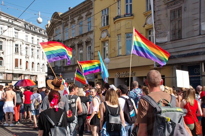 Zagreb / Croatia - 06/08/2019: Zagreb pride parade photo