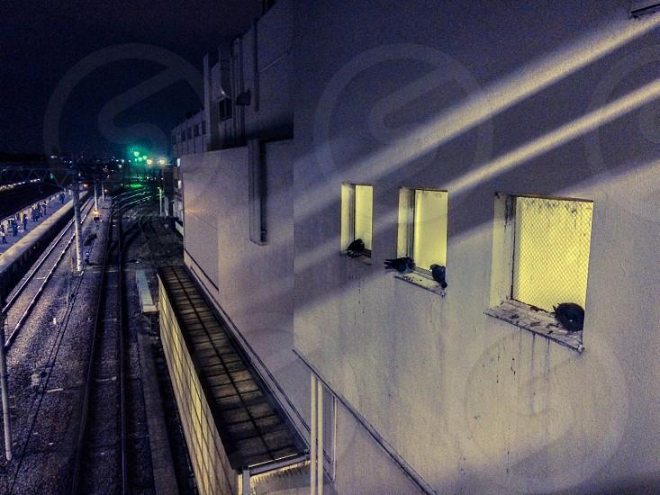 Station at night photo
