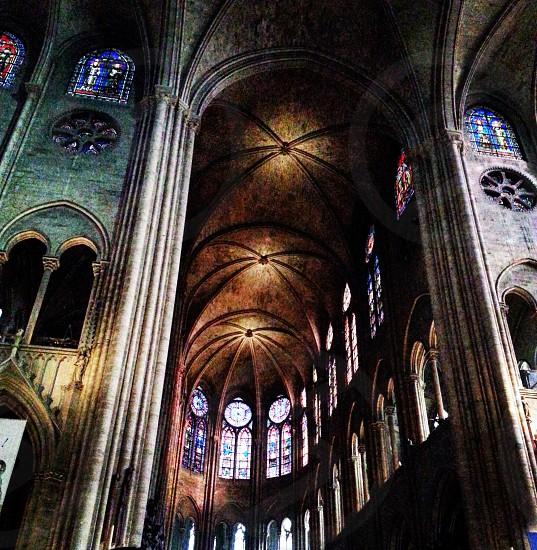 Notre Dame Paris France Europe church Catholic medieval vitreaux heaven  photo
