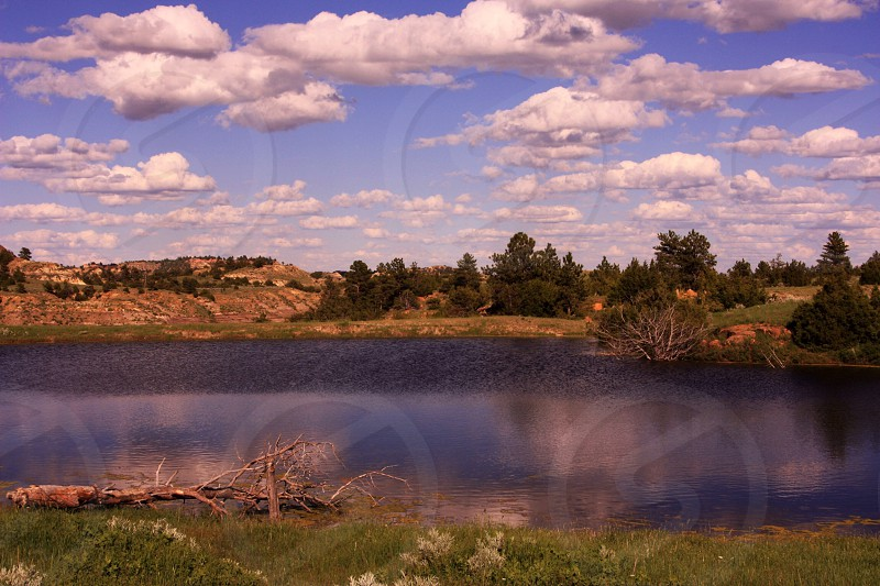 blue lake scenery photo