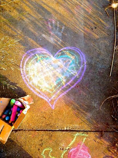 purple heart illustration photo