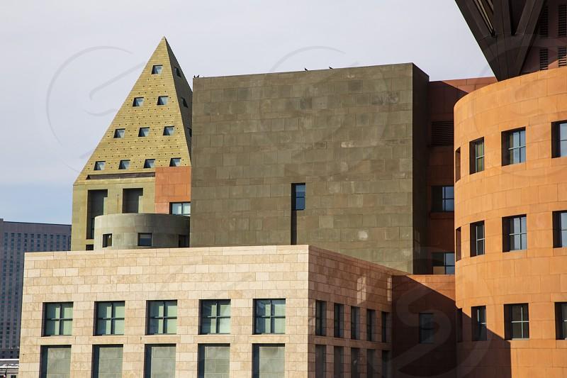 Main building of Denver Public LIbrary Denver Colorado.  photo