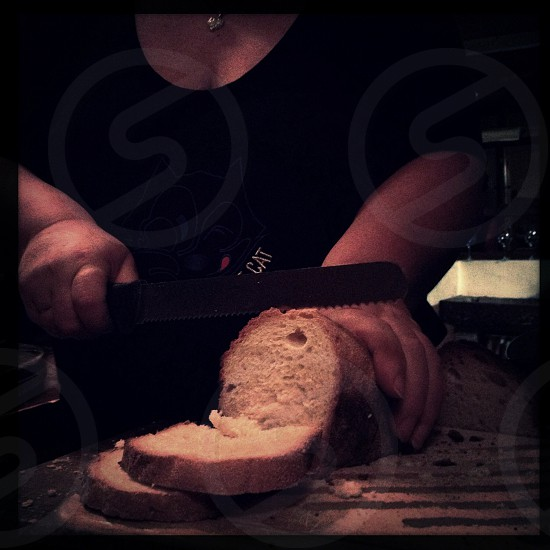 silver bread knife photo