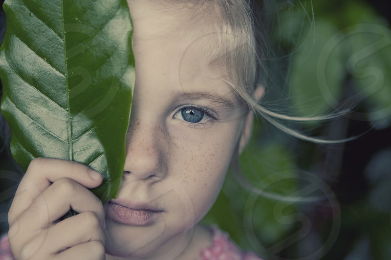 love nature take care of nature mother nature little girl freckles cute sweet peace  photo