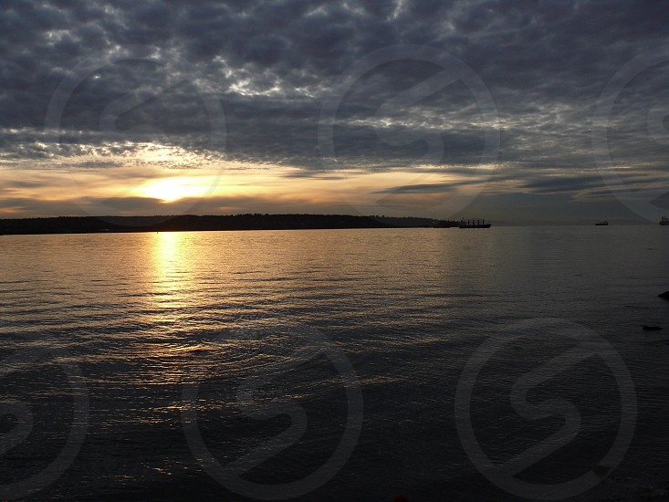 sunset Vancouver Canada ocean water sky nature photo