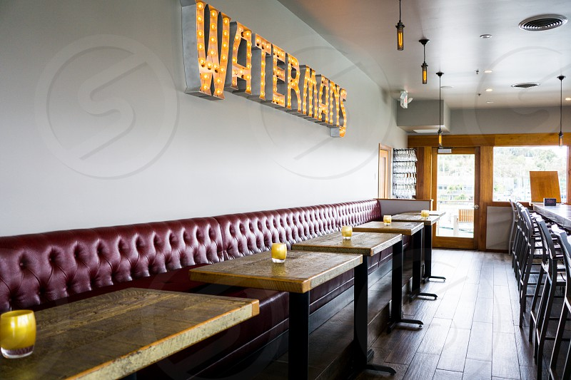 tables in watermans store photo