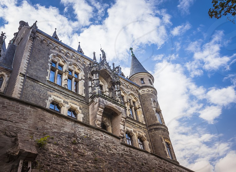 wernigerode castle with blue sky in germany Harz national park photo