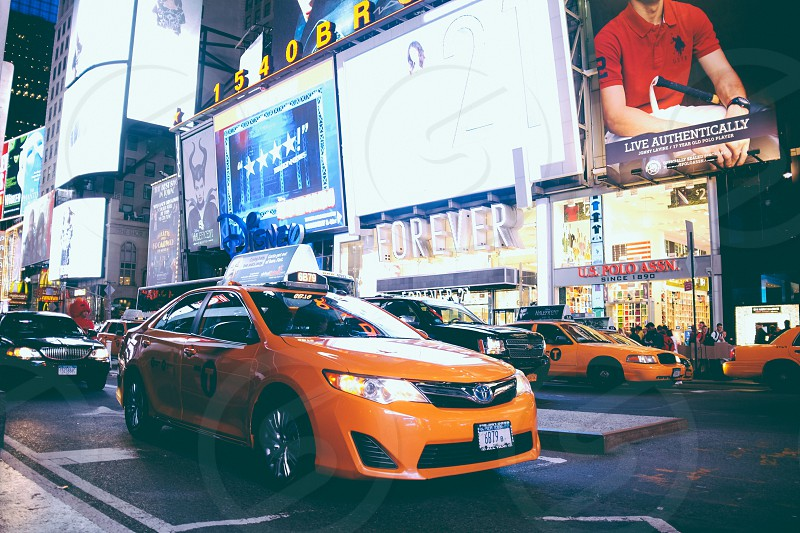 Cabs NYC Times Square photo