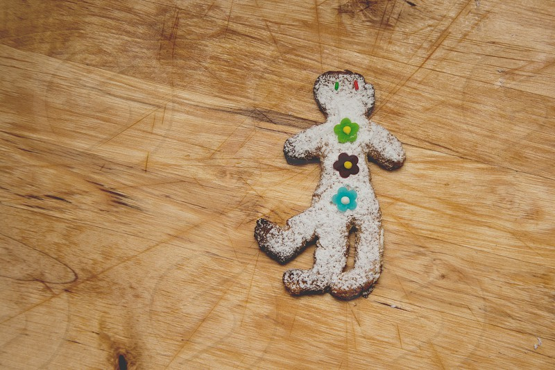 One gingerbread mutant with three legs photo