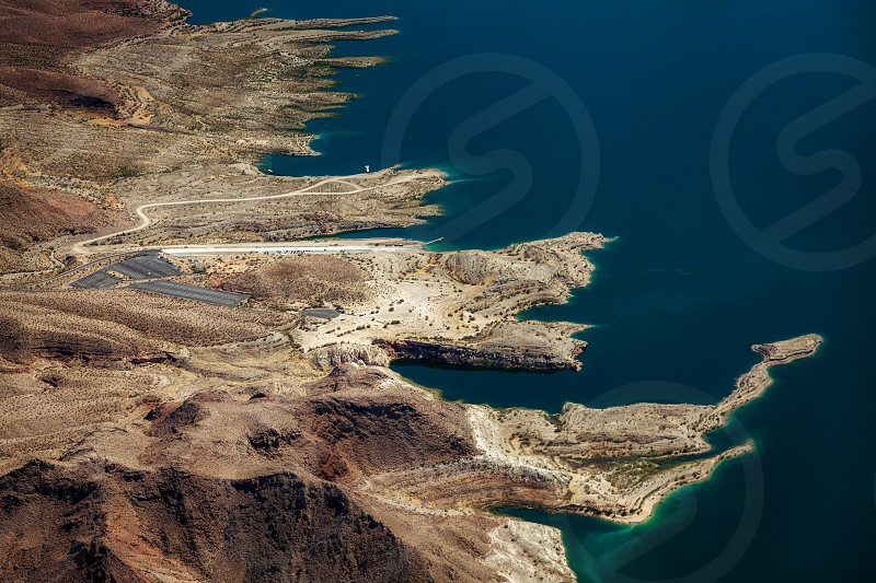 Aerial view of Lake Mead photo