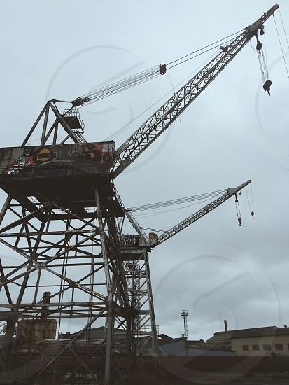 view of metal crane photo