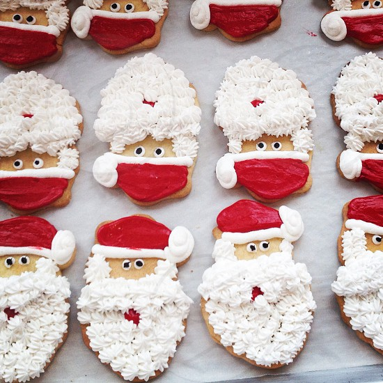 Santa sugar cookies Christmas  photo