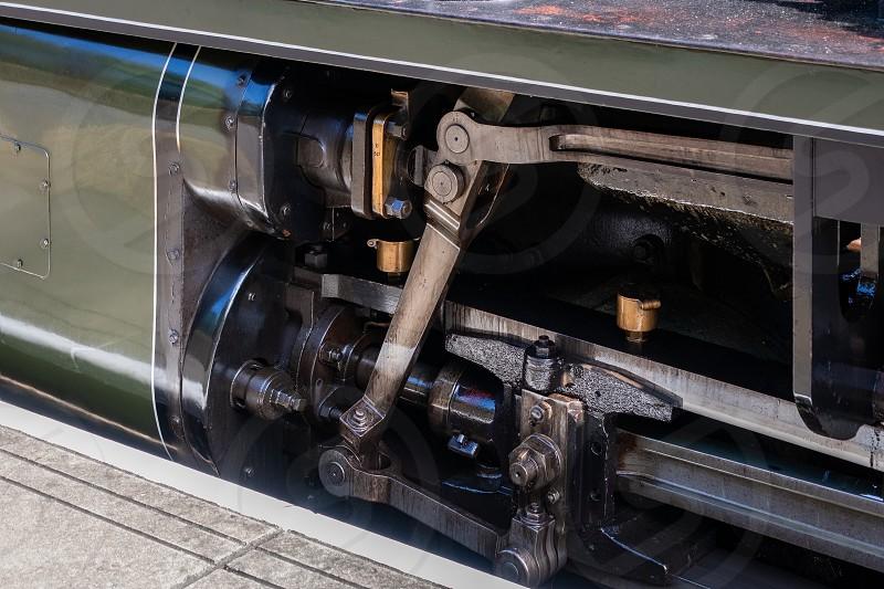 EAST GRINSTEAD WEST SUSSEX/UK - AUGUST 30 : Steam train in East Grinstead station West Sussex on August 30 2019 photo