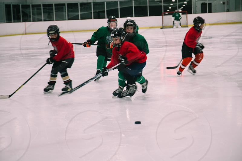 kids playing hockey photo
