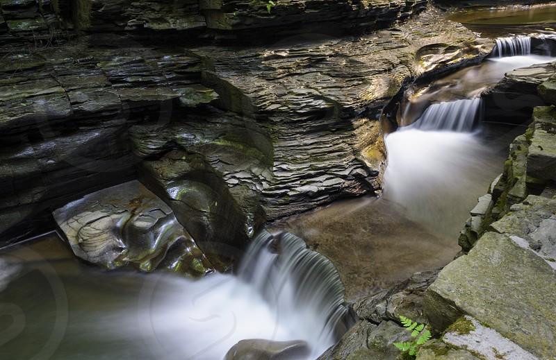 A beautiful waterfall at Watkins Glen State Park.  photo
