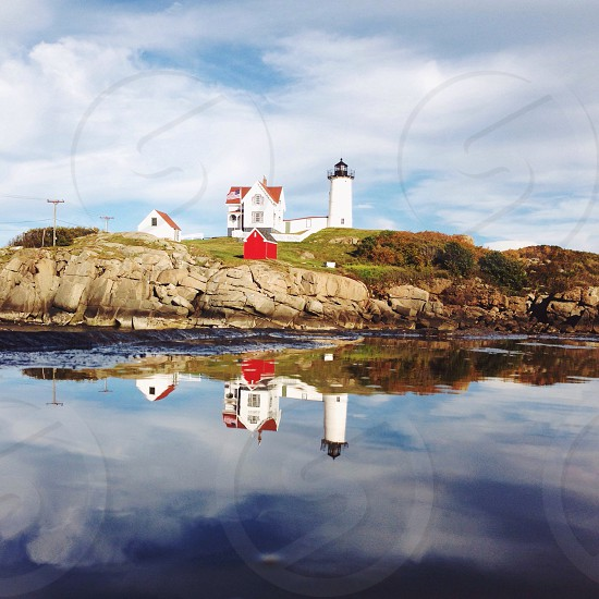 Light houses in the water  photo
