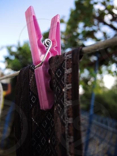 pink cloths clip photo