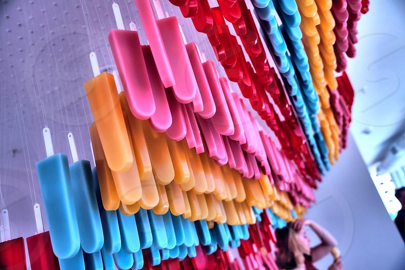 Rainbow; Popsicles; Miami; Florida photo