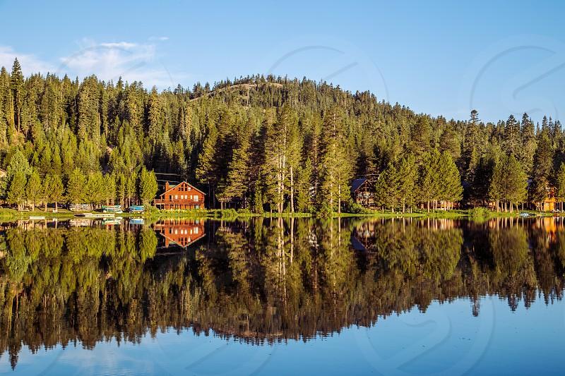Reflective Serene Lake photo