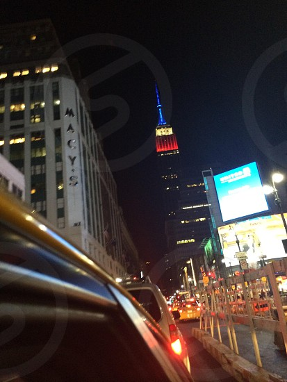 Taxi view of the Empire State Building New York City photo