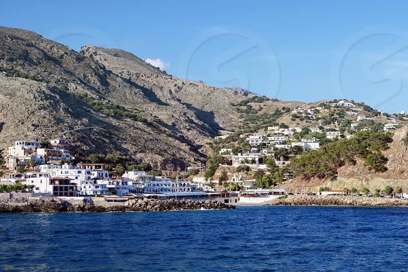 Cityscape of Chora Sfakion (Crete Greece) photo