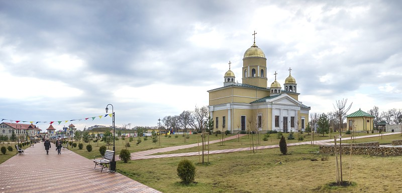 Orthodox Church of St. Alexander Nevsky in The Fortress Of Bender Transnistria Moldova. The Church is located on the territory of the historical architectural complex of the ancient Ottoman Citadel. photo