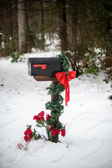 Mailbox decorated for Christmas photo