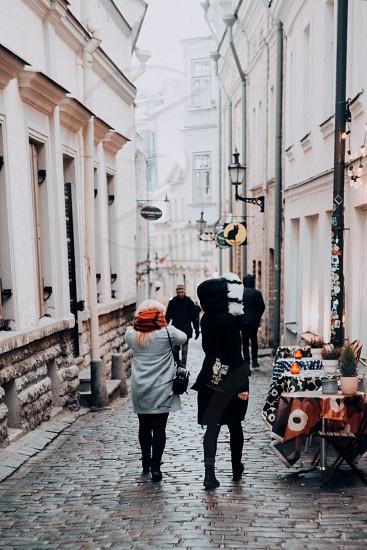 oldtown estonia walking winter photo