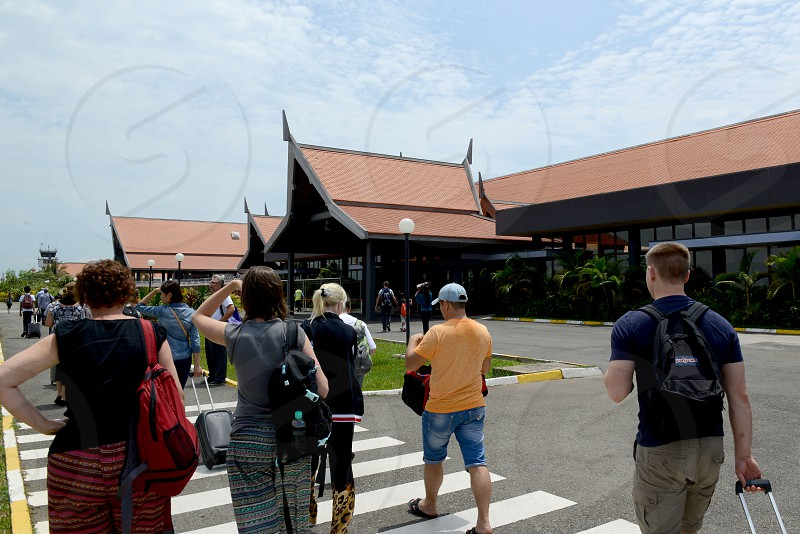 the Riem Reap Airport at the City of Siem Reap in Cambodia.  Cambodia Siem Reap April 2014 photo