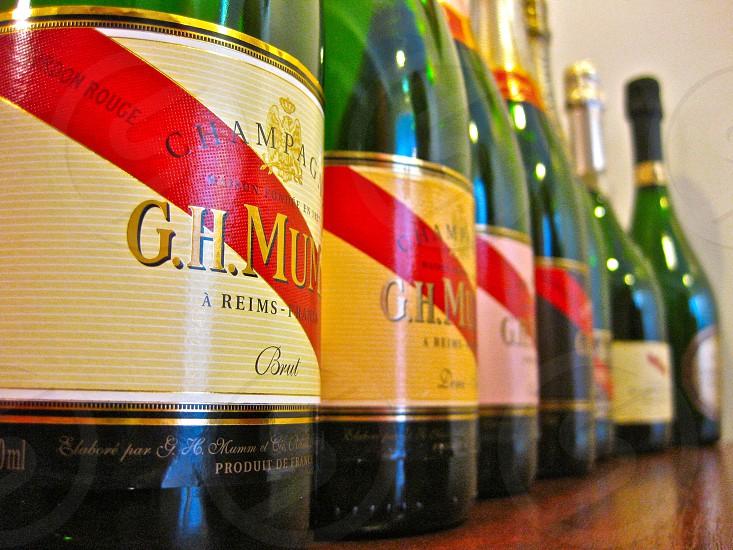 Mumm champagne bottles Reims France photo