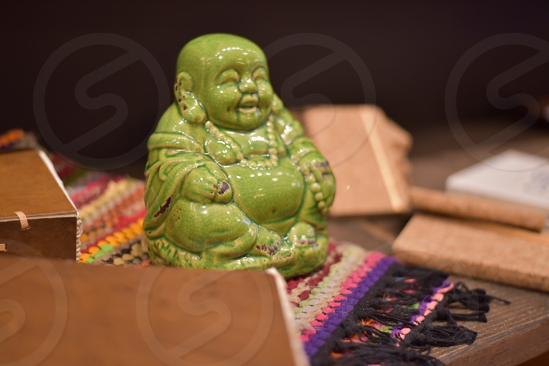 Spiritualism Zen Buddhas in quiet reflection space photo