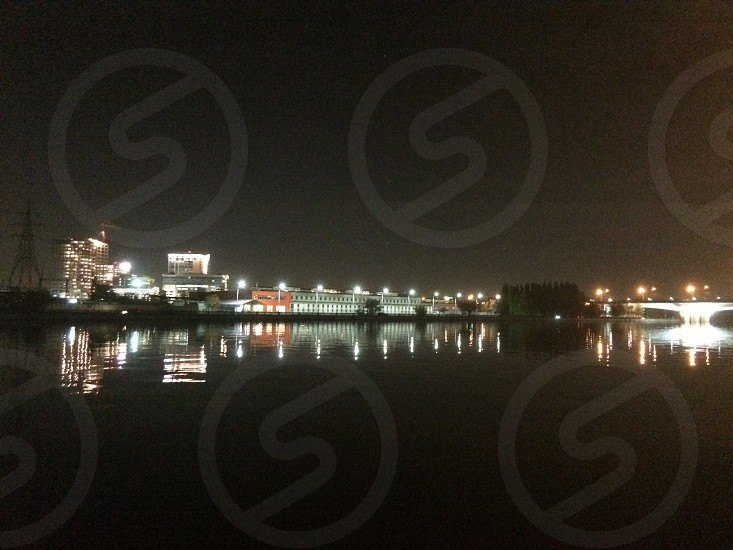 #moscow #night #russia #reflection photo