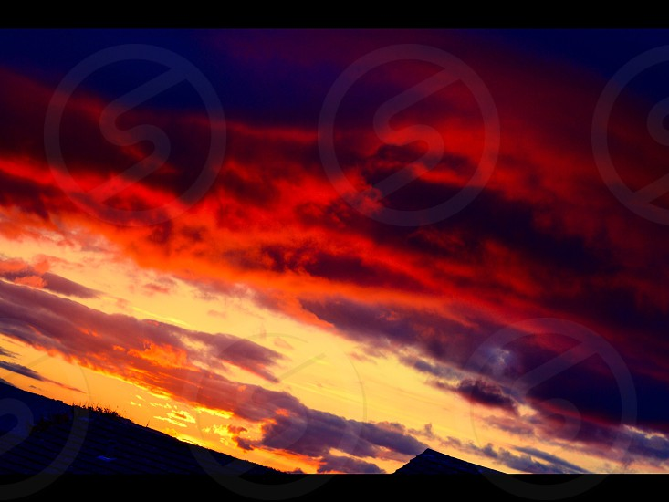 Burning sky photo