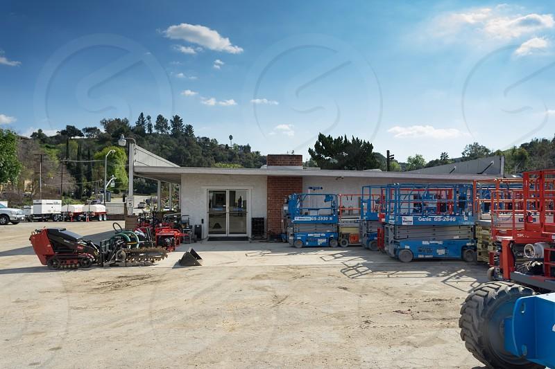 truck cranes utilities automotive rental photo