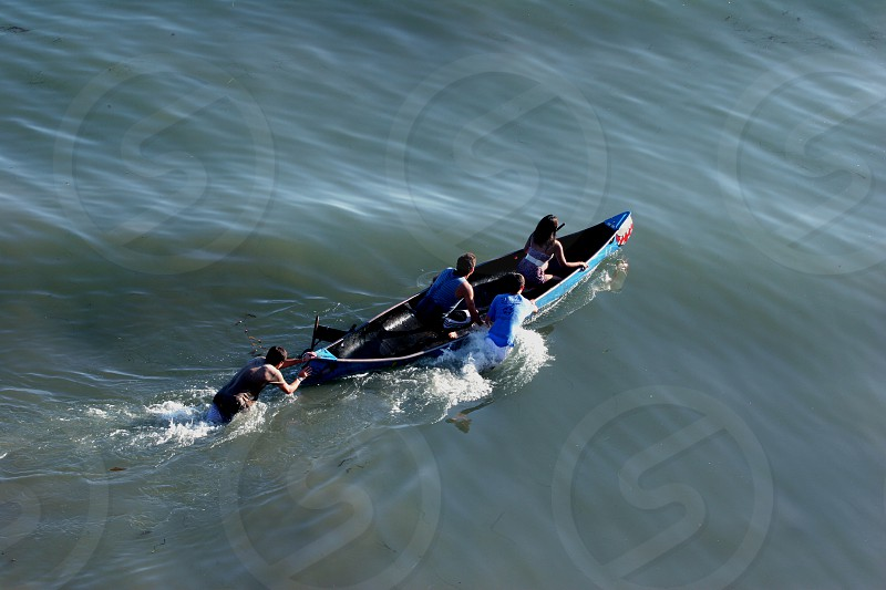 The canoe ride - Isla Vista photo