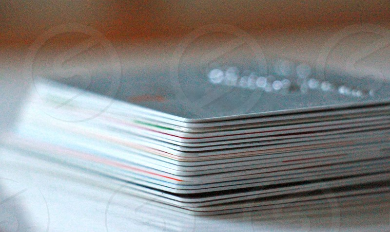 Stack of credit cards photo