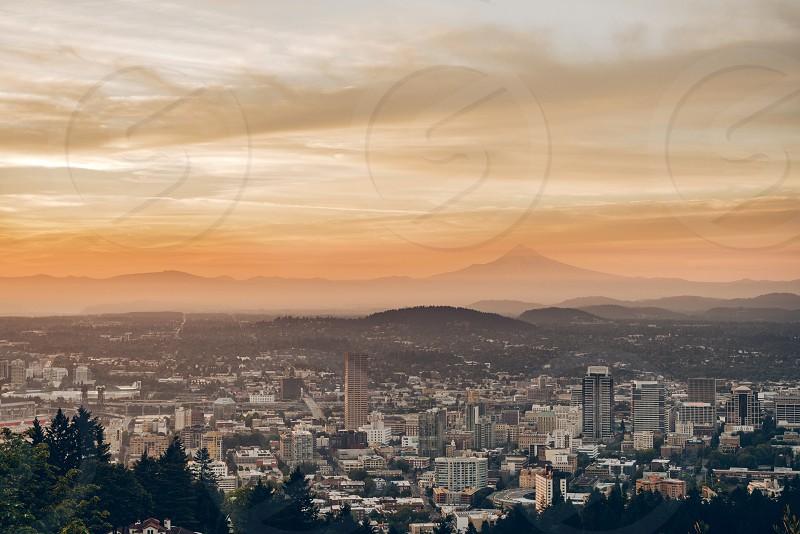 Sunrise over Portland OR. photo