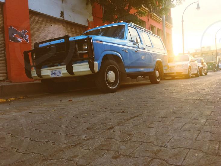 Blue car  photo